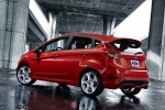 2015 Ford Fiesta Hatchback ST in Race Red - Static Rear Left Three-quarter View