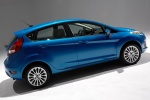 2016 Ford Fiesta Hatchback Titanium in Blue Candy Metallic Tinted Clearcoat - Static Rear Right Three-quarter View