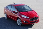 2016 Ford Fiesta Sedan Titanium in Ruby Red Metallic Tinted Clearcoat - Static Front Right View