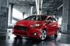 2018 Ford Fiesta Hatchback ST in Red from a front left view