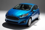 2018 Ford Fiesta Hatchback Titanium in Blue - Static Front Left View