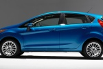 2018 Ford Fiesta Hatchback Titanium in Blue - Static Left Side View