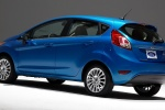 2018 Ford Fiesta Hatchback Titanium in Blue - Static Rear Left Three-quarter View