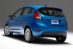 2018 Ford Fiesta Hatchback Titanium in Blue - Static Rear Left View