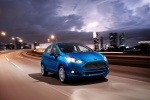2018 Ford Fiesta Hatchback Titanium in Blue - Driving Front Right View