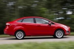 2018 Ford Fiesta Sedan Titanium in Red - Driving Side View