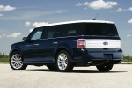 2010 Ford Flex EcoBoost in Dark Ink Blue Metallic - Static Rear Left Three-quarter View