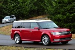 2017 Ford Flex SEL in Ruby Red Metallic Tinted Clearcoat - Driving Front Right Three-quarter View