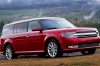 2018 Ford Flex SEL in Ruby Red Metallic Tinted Clearcoat from a front right three-quarter view