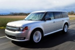 2018 Ford Flex SEL in Ingot Silver Metallic - Driving Front Left Three-quarter View