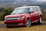 2018 Ford Flex SEL in Ruby Red Metallic Tinted Clearcoat - Static Front Left Three-quarter View