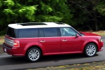 2018 Ford Flex SEL in Ruby Red Metallic Tinted Clearcoat - Driving Rear Right Three-quarter View