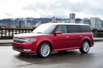 2018 Ford Flex SEL in Ruby Red Metallic Tinted Clearcoat - Driving Front Left Three-quarter View