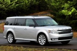 2018 Ford Flex SEL in Ingot Silver Metallic - Driving Front Right Three-quarter View