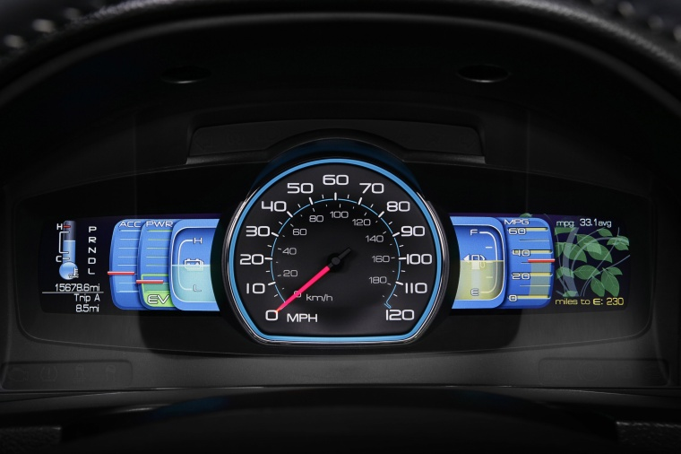 2011 Ford Fusion Hybrid Gauges Picture