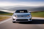 2011 Ford Fusion Hybrid in Brilliant Silver Metallic - Driving Frontal View