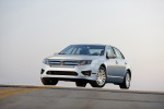 2011 Ford Fusion Hybrid in Brilliant Silver Metallic - Static Front Left Three-quarter View