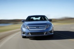 2011 Ford Fusion Sport in Steel Blue Metallic - Driving Frontal View