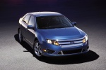 2012 Ford Fusion Sport in Steel Blue Metallic - Static Front Right Top Three-quarter View