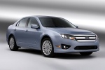 2012 Ford Fusion Hybrid in Light Ice Blue Metallic - Static Front Right Three-quarter View