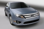 2012 Ford Fusion Hybrid in Light Ice Blue Metallic - Static Front Right View