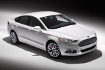 2013 Ford Fusion Titanium AWD in Oxford White - Static Front Right Three-quarter Top View