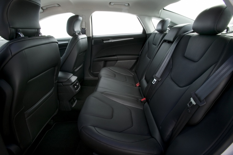 2014 Ford Fusion Titanium AWD Rear Seats Picture