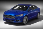 2014 Ford Fusion Hybrid SE in Deep Impact Blue - Static Front Left Three-quarter View