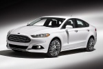 2014 Ford Fusion Titanium AWD in Oxford White - Static Front Left Three-quarter View