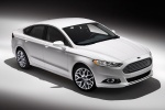 2015 Ford Fusion Titanium AWD in Oxford White - Static Front Right Three-quarter Top View