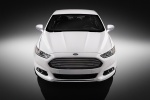 2015 Ford Fusion Titanium AWD in Oxford White - Static Frontal View