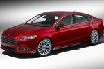 2016 Ford Fusion Titanium AWD in Ruby Red Metallic Tinted Clearcoat - Static Front Left Three-quarter View