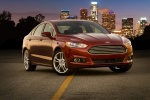 2016 Ford Fusion Titanium AWD in Ruby Red Metallic Tinted Clearcoat - Static Front Right Three-quarter View