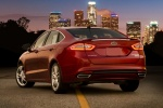 2016 Ford Fusion Titanium AWD in Ruby Red Metallic Tinted Clearcoat - Static Rear Left Three-quarter View