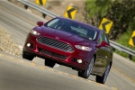2016 Ford Fusion Titanium AWD in Ruby Red Metallic Tinted Clearcoat - Driving Front Left View