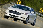 2016 Ford Fusion Titanium AWD in Oxford White - Driving Front Left View