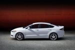 2016 Ford Fusion Titanium AWD in Oxford White - Static Side View