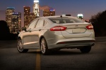 2016 Ford Fusion Hybrid SE in Ingot Silver - Static Rear Left Three-quarter View