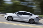 2016 Ford Fusion Titanium AWD in Oxford White - Driving Left Side View