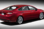 2016 Ford Fusion Titanium AWD in Ruby Red Metallic Tinted Clearcoat - Static Rear Right Three-quarter View