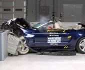 2010 Ford Mustang IIHS Frontal Impact Crash Test Picture