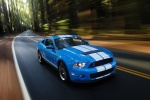 2010 Shelby GT500 Coupe in Grabber Blue - Driving Front Right Three-quarter View