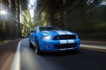2010 Shelby GT500 Coupe in Grabber Blue - Driving Front Right View