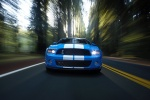 2010 Shelby GT500 Coupe in Grabber Blue - Driving Frontal View