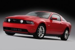 2011 Ford Mustang GT Coupe in Race Red - Static Front Left Three-quarter View