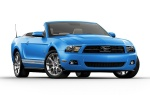 2011 Ford Mustang Convertible in Grabber Blue - Static Front Right View