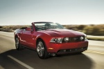 2011 Ford Mustang GT Convertible in Red Candy Metallic Tinted Clearcoat - Driving Front Right View