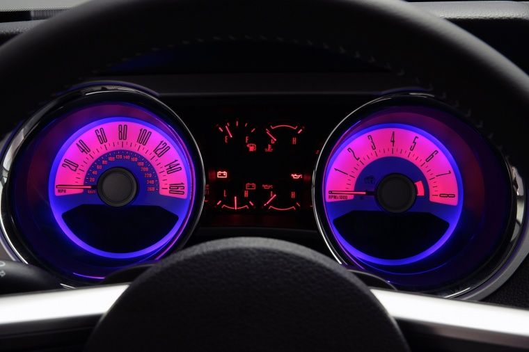 2012 Ford Mustang GT Coupe Gauges Picture