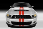 2012 Shelby GT500 Convertible in Performance White - Static Frontal View