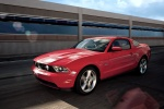 2012 Ford Mustang GT Coupe in Race Red - Driving Front Left Three-quarter View